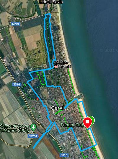 Percorso ecomaratona 11km